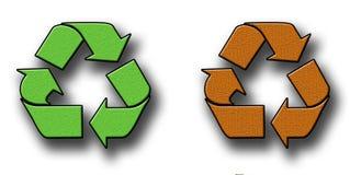 Textured Recycling Symbols Stock Photo