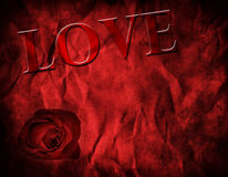 Textured Red Background for Valentine's Day Stock Images
