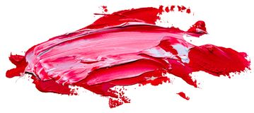 Textured red and white oil paint brush stroke. Template for your banner text - textured red and white oil paint brush stroke, isolated on white background. EPS10 stock illustration