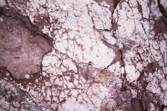 Textured rock background. A textured rock background with purple and pink rocks Royalty Free Stock Photo