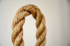 Textured Rope Loop With Focus Blur stock image