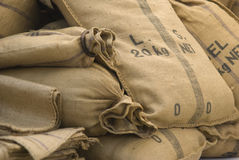 Textured sack Royalty Free Stock Photos