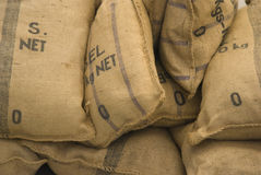 Textured sack Stock Photography