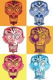 Textured scary skull creature symbol Royalty Free Stock Photos