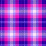 Colorful pink and blue scottish tartan plaid seamless pattern. Textured seamless pink blue tartan pattern background plaid. Modern style, bright colors barbie royalty free illustration