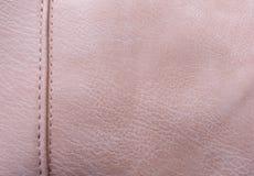 Textured skóra jest różowa w kolorze Zbliżenie widoku tło zdjęcia royalty free