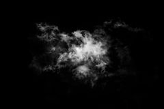 Textured Smoke,Abstract black,isolated on black background Stock Photos