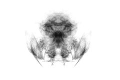 Textured Smoke,Abstract black,isolated on white background Stock Photography