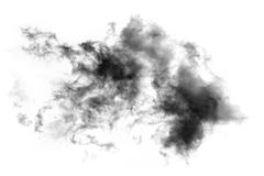 Textured Smoke, Abstract black. On white background Royalty Free Stock Photos