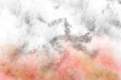 Textured Smoke, Abstract colorful Stock Image