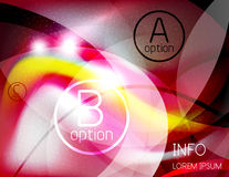 Textured smooth business wave design Stock Photography