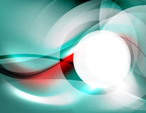 Textured smooth business wave design Stock Images