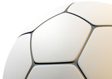Textured Soccer Ball Closeup Stock Image