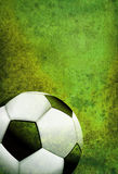 Textured Soccer Football Field Background with Ball Royalty Free Stock Images