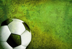Textured Soccer Football Field Background with Ball Stock Photos