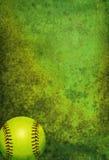 Textured Softball Background with Ball Stock Photos