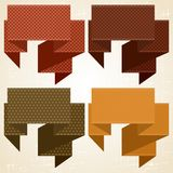 Textured speech bubbles and stickers set in retro Royalty Free Stock Image