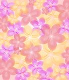 Textured Spring Flowers Background Stock Photo