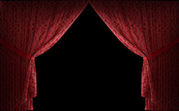 Textured stage curtains Royalty Free Stock Photo