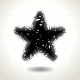 Textured Star Icon on star pattern, messy and disorderly Royalty Free Stock Image