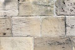 Textured stara kamienna ściana Zdjęcie Royalty Free