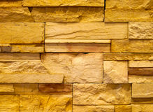 Textured stone block wall Stock Image