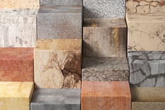 Textured stone cubes Stock Images