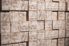 Textured stone cubes Stock Photography