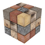 Textured stone cubes Royalty Free Stock Image