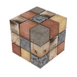 Textured stone cubes Royalty Free Stock Images