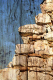 Textured stone wall Stock Image