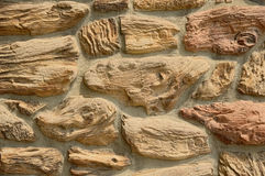 Textured Stone Wall Royalty Free Stock Photos
