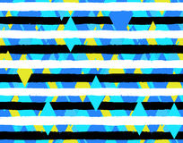 Textured Stripes Rhombus Seamless Pattern Royalty Free Stock Photography