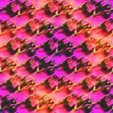 Textured stylowa paleta obrazka czerwień, purpury rama royalty ilustracja