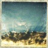 Textured sunset Stock Photo