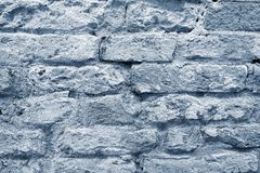 The textured surface of an old brick wall Stock Images