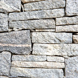 Textured surface of rough granite stone in shades of grey. Commonly seen in walls Stock Image