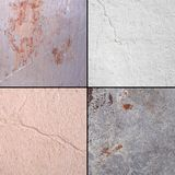 Textured surfaces in the set: metal, whitewash, cardboard Royalty Free Stock Image