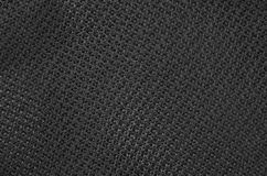 Textured synthetical background. Close up of black textured synthetical background Stock Images