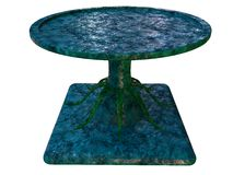 Textured table 3d render on white background Stock Images