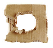 Textured torn carton. Isoalted on white royalty free stock images