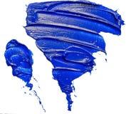 Textured triangular blue oil paint brush stroke vector illustration