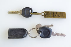 Textured trinket with keys Royalty Free Stock Photo