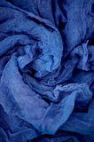 Textured, twisted into a flower gauze. Blue. Textured, twisted into a flower gauze. Blue Close Stock Image