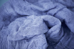 Textured, twisted into a flower gauze. Close. Textured, twisted into a flower gauze. Blue Close Royalty Free Stock Images