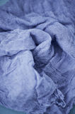 Textured, twisted into a flower gauze. Close. Textured, twisted into a flower gauze. Blue Close Stock Photo