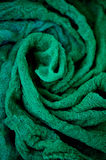 Textured, twisted into a flower gauze. Emerald green. Close Royalty Free Stock Photos