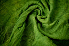 Textured, twisted into a flower gauze. Green. Textured, twisted into a flower gauze. Green Close Stock Photography