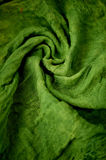 Textured, twisted into a flower gauze. Green. Textured, twisted into a flower gauze. Green Close Stock Photo