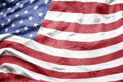 Textured USA flag. Closeup of textured American flag Stock Images